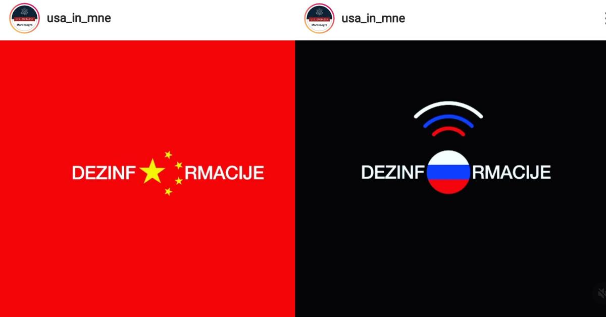 Vizualna ofanziva Ambasade USA iz Crne Gore na Rusiju i Kinu